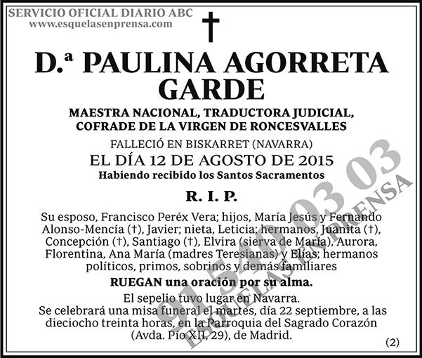Paulina Agorreta Garde